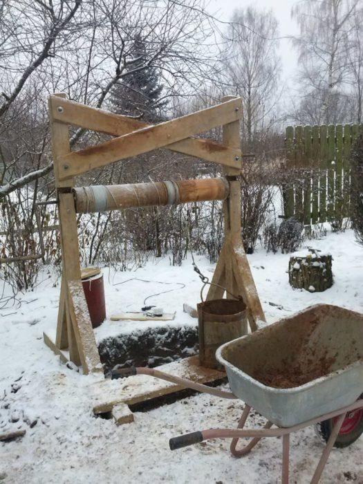 Копать колодец в зимнее время