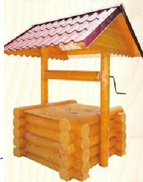 Домик на колодец из бревна 1