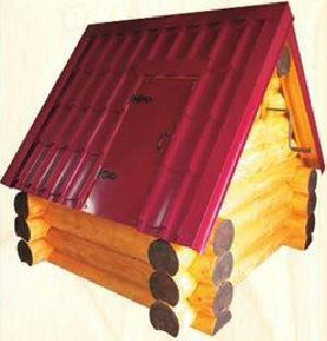 Домик на колодец из бревна